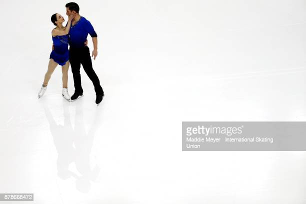 Deanna Stellato and Nathan Bartholomay of the United States perform during the Pairs Short program on Day 1 of the ISU Grand Prix of Figure Skating...