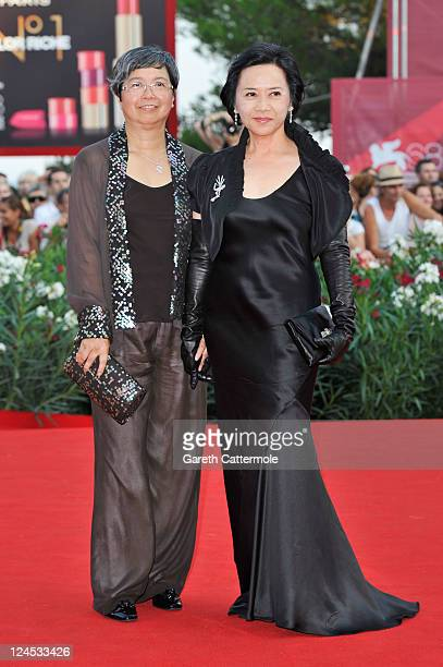 Deannie Yip attends the Damsels In Distress premiere and closing ceremony during the 68th Venice Film Festival at Palazzo del Cinema on September 10...