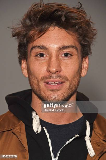 Deano Bugatti attends the Christopher Raeburn show during London Fashion Week Men's January 2018 at BFC Show Space on January 7 2018 in London England
