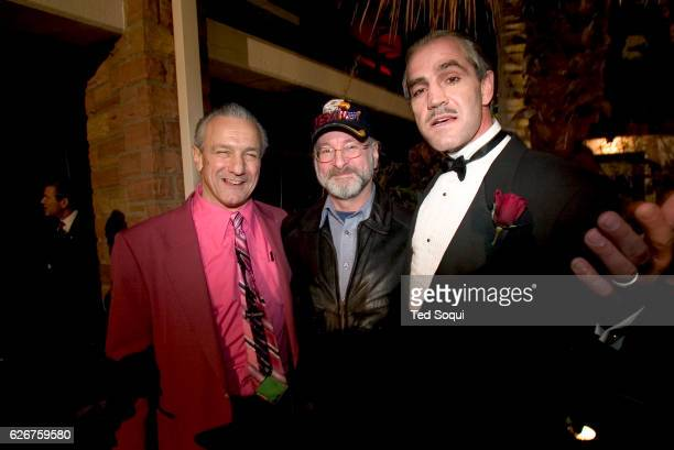 Deano Clavet a Marlon Brando/Godfather Don Corleone look alike right with a Robert DeNiro left and Steven Spielberg look alikes They are at the 14th...