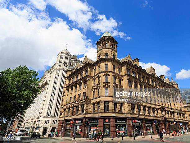 deansgate in manchester - manchester england stock pictures, royalty-free photos & images