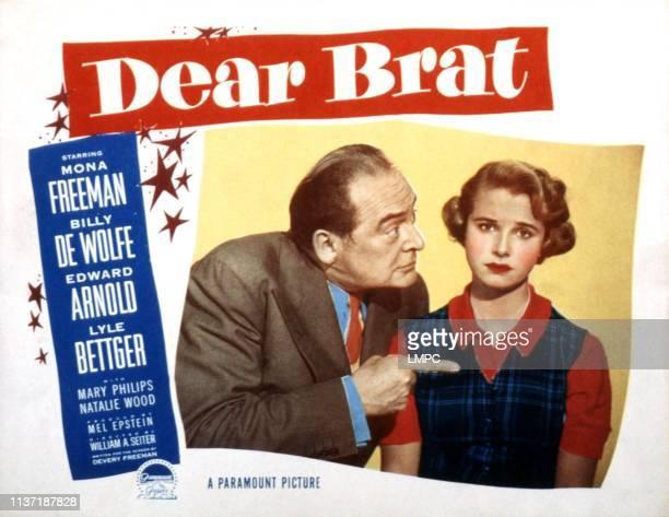 Dear Brat, lobbycard, Edward Arnold, Mona Freeman, 1951.