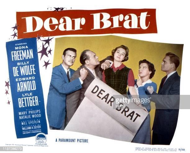 Dear Brat, lobbycard, from left, Billy De Wolfe, Edward Arnold, Mona Freeman, Mary Philips, Lyle Bettger, 1951.