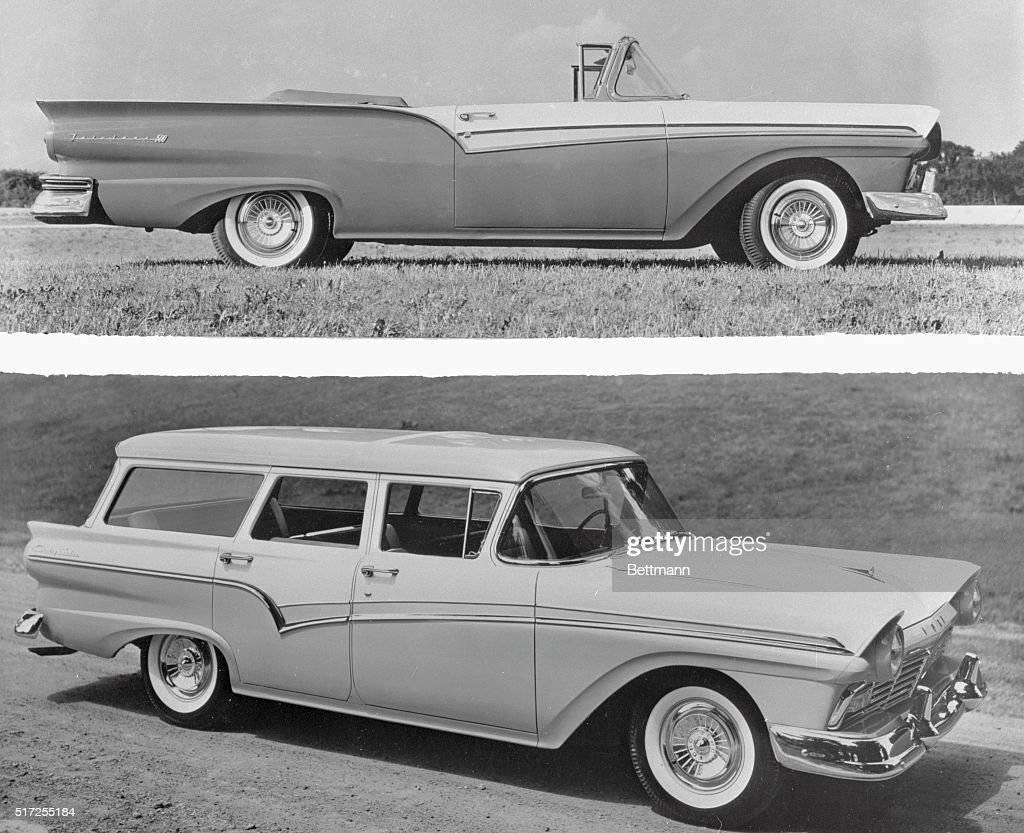 The Ford Convertible Sunliner Top And Station Wagon