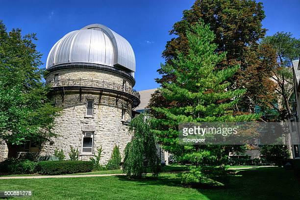 dearborn observatory in evanston, illinois - evanston illinois stock photos and pictures