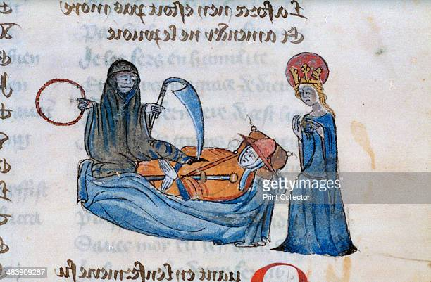 Death and dying 14th century From Pilgrimage of the human life a French manuscript From the Bodleian Library collection Oxford