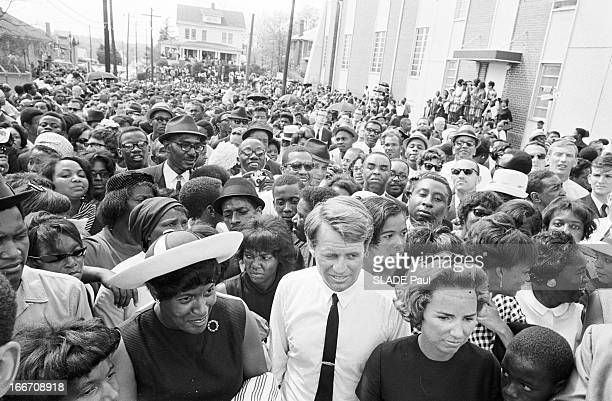 Death And Funeral Of Martin Luther King A Atlanta le 9 Avril 1968 lors des obsques de Martin LUTHER KING assassin au motel 'Lorraine' de Memphis le 4...
