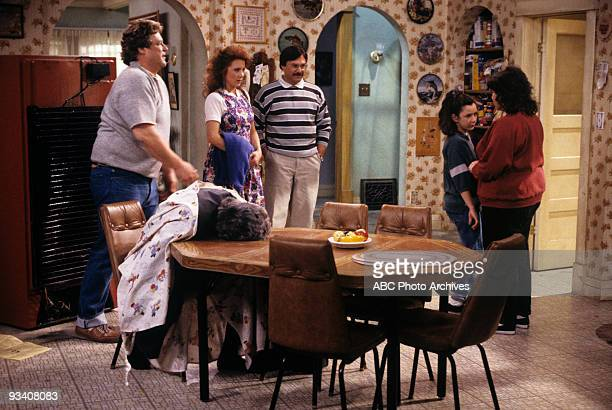 "Death and Stuff"" 4/11/89 John Goodman, Lee Garlington, Alan David Gelman, Sara Gilbert, Roseanne Barr"