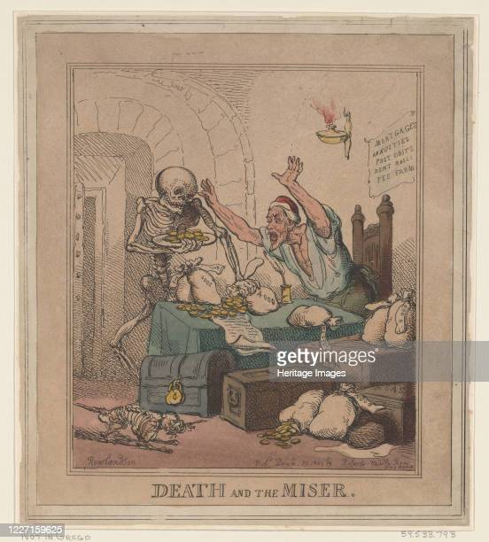 Death and the Miser December 20 1801 Artist Thomas Rowlandson