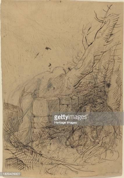 Death and the Woodcutter. Artist Alphonse Legros.