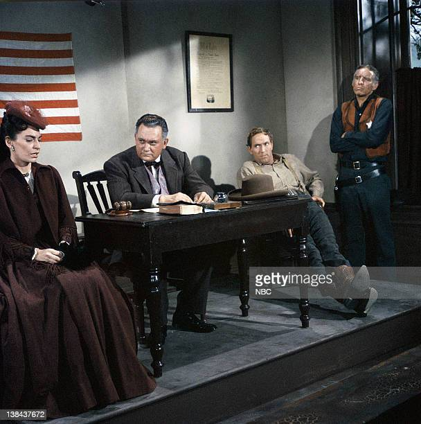 BONANZA Death at Dawn Episode 32 Aired 4/30/60 Pictured Nancy Deale as Beth Cameron Wendell Holmes as Judge Scribner Gregory Walcott as Farmer...