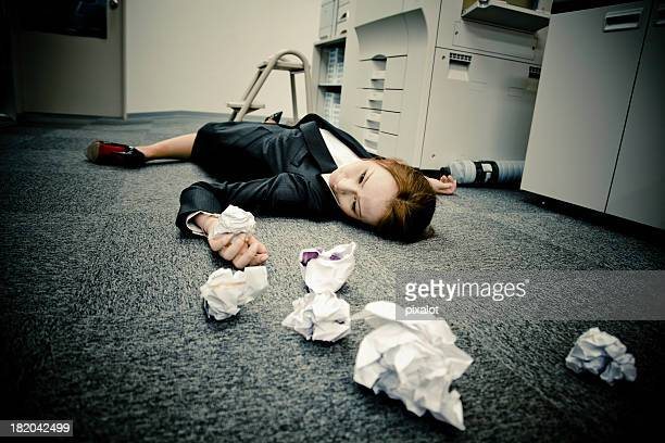 death at work - dead woman stock pictures, royalty-free photos & images