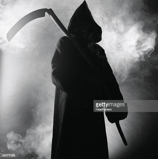 death carrying scythe - grim reaper stock pictures, royalty-free photos & images