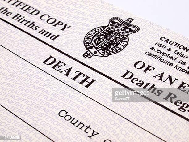 UK Death Certificate