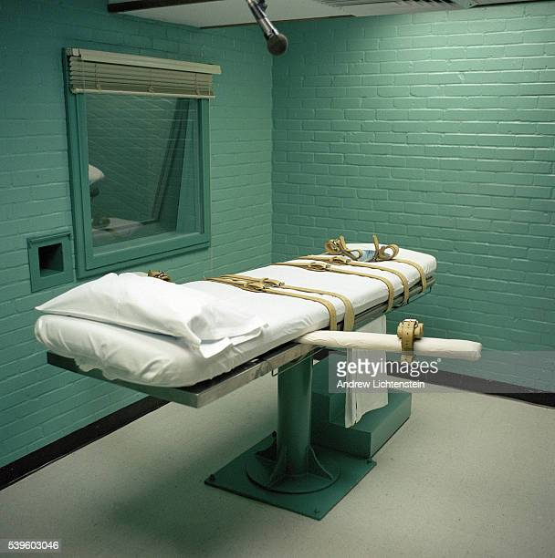Death chamber gurney at the Huntsville prison in Texas The State of Texas adopted lethal injection as a means of execution in 1977 The first lethal...