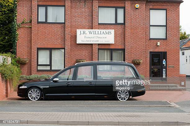 death in the family - hearse stock photos and pictures