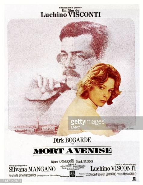 Death In Venice poster top Dirk Bogarde Bjorn Andresen on French poster art 1971