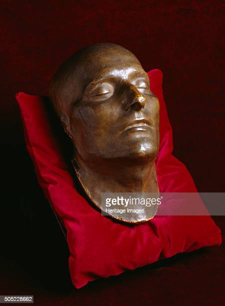Death mask of Napoleon Bonaparte Apsley House London c2000s On display in the Basement Gallery Artist Historic England Staff Photographer