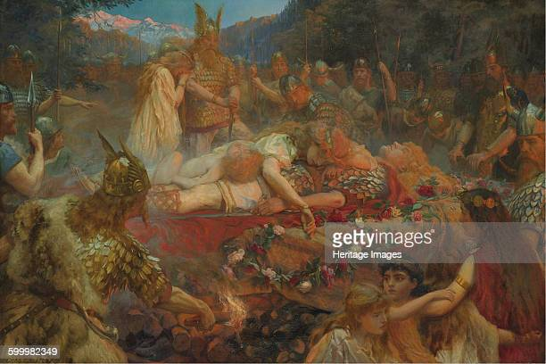 Death of a Viking warrior 1909 Private Collection Artist Butler Charles Ernest