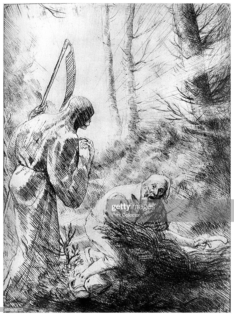'Death of a Woodhewer', c1860-1910 (1924). A print from A History of French Etching from the 16th Century to the Present Day, by F L Leipnik, John Lane the Bodley Head Limited, London, 1924.