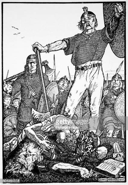 Death of Brian Boru at the Battle of Clontarf Ireland 1014 Brian Boru was King of Munster from 978 and High King of Ireland from 1002 He was killed...