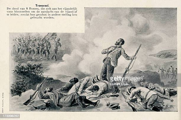Death of Eight Boer Soldiers at the hands of British colonial forces during the Second Boer War in Transvaal The soldiers have drawn the fire of the...