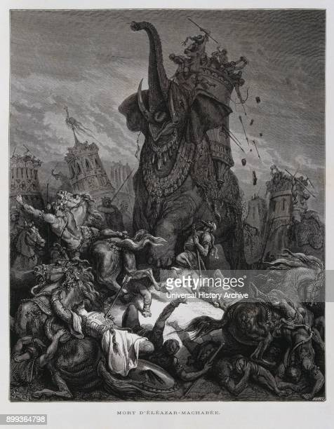 Death of Eleazar Illustration from the Dore Bible 1866 In 1866 the French artist and illustrator Gustave Doré published a series of 241 wood...