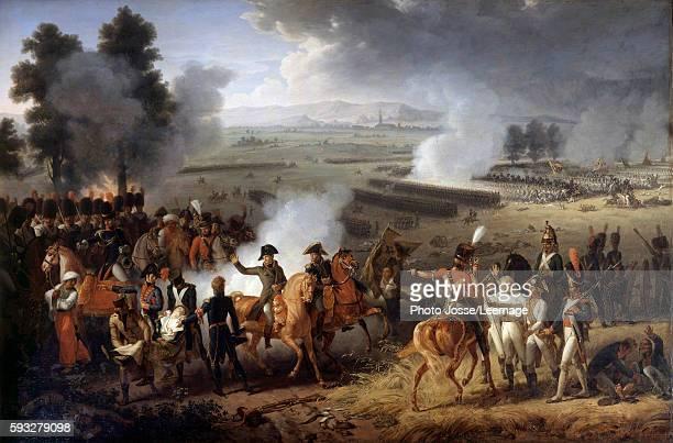 Death of General Charles Antoine Desaix de Veygoux at the Battle of Marengo 14 June 1800 Painting by JacquesAugustinCatherine Pajou 1800 Chateau de...