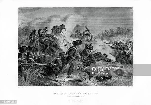 Death of General Lyon Battle of Wilson's Creek Missouri 10 August 1861 Nathaniel Lyon was given command of the Union Army of the West on 2 July 1861...