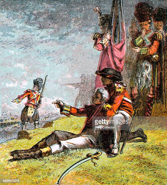 'Death of General Wolfe' 1759 James Wolfe died during the battle to take Quebec from the French in 1759 Colour plate taken from the book Pictures of...