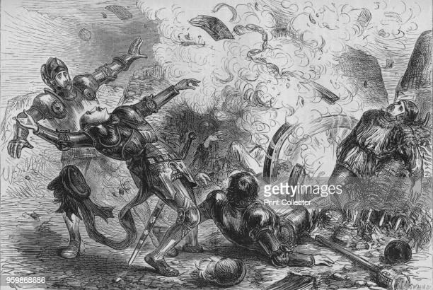 Death of James II of Scotland' circa 1880 Episode from the Capture of Roxburgh From British Battles on Land and Sea Vol III by James Grant [Cassell...
