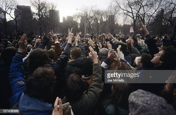 20/20 Death of John Lennon 12/8/1980 Live report by Walt Disney Television via Getty Images News correspondent Geraldo Rivera in front of John...