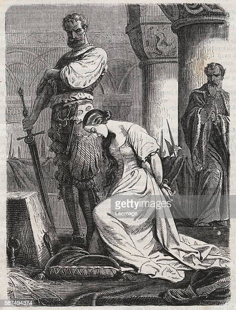 Death of Katherine Howard Wife of Henry VIII engraving 1864 Catherine Hovard or Catherine Howard