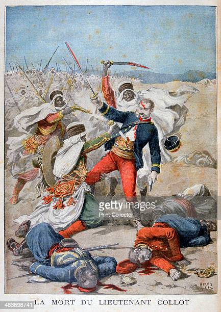 Death of Lieutenant Collet Algeria 1896 An illustration from Le Petit Journal 22nd November 1896