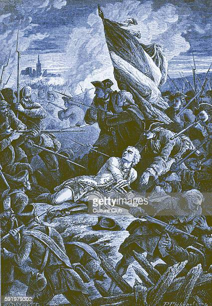 Death of Louis Robert Hippolyte de BrŽhan Count of PlŽlo French Ambassador to Copenhagen while attacking the enemy Russian camp during the Siege of...