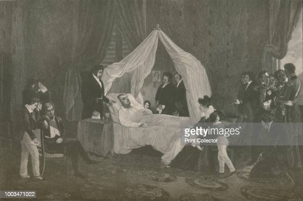 Death of Napoleon I' Napoleon Bonaparte died on 5 May 1821 in exile on the island of Saint Helena Engraving after the painting made in 1825 by...
