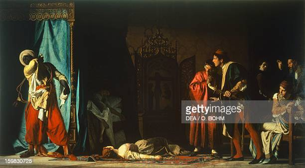 Death of Othello scene from Otello by William Shakespeare oil on canvas by Pompeo Marino Molmenti Venice Galleria Internazionale D'Arte Moderna Di...