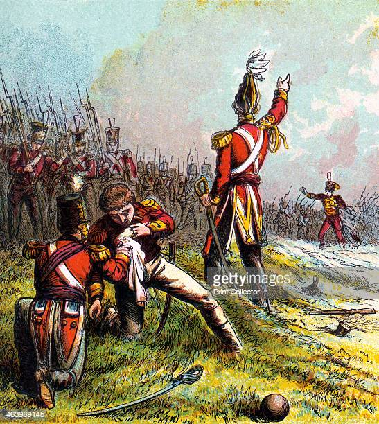 'Death of Sir John Moore 1809' Moore commanded the British forces at the Battle of Corunna Peninsular War Spain 16 January 1809 Retreating from a...
