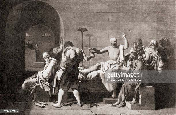 Death of Socrates by drinking hemlock poison Socrates c 469 399 BC Classical Greek philosopher From Hutchinson's History of the Nations published 1915