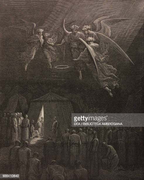 Death of St Louis on the night of August 25 engraving by Gustave Dore from History of the Crusades by JosephFrancois Michaud 1888 edition