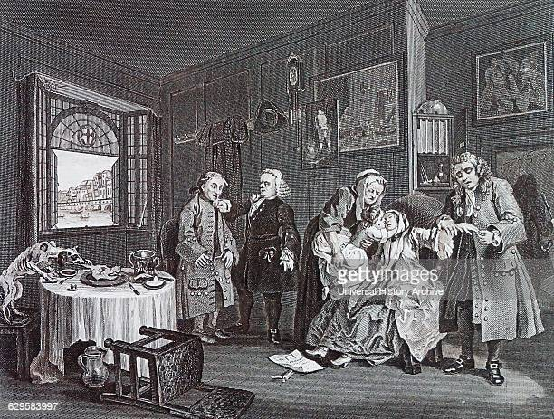 Death of the countess Plate VI from marriage a la mode by William Hogarth English painter printmaker pictorial satiriSaint the Countess has committed...
