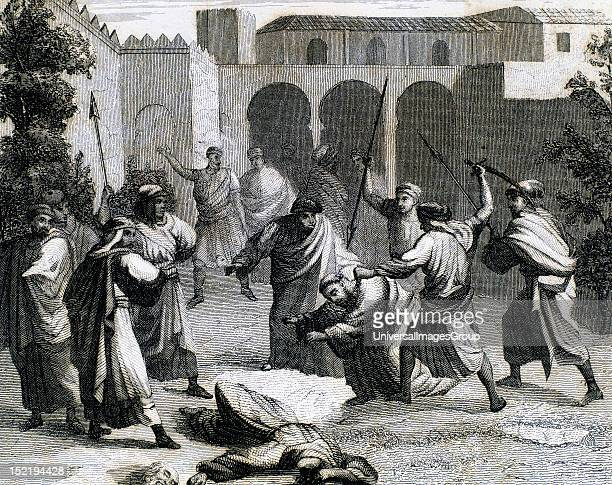 Death of two Franciscan friars executed by the Moorish king Zayd Abu Zayd in the convent of Saint Francis of Assisi Valencia 13th Century Nineteenth...