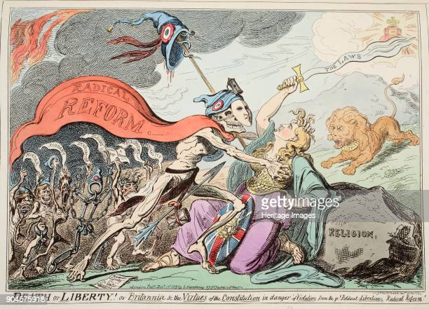 Death or Liberty Or Britannia the Virtues of the Constitution in danger of Violation from the Great Political Libertine Radical Reform pub 1819