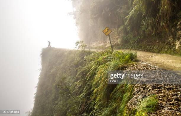death road, bolivia - bolivia stock pictures, royalty-free photos & images