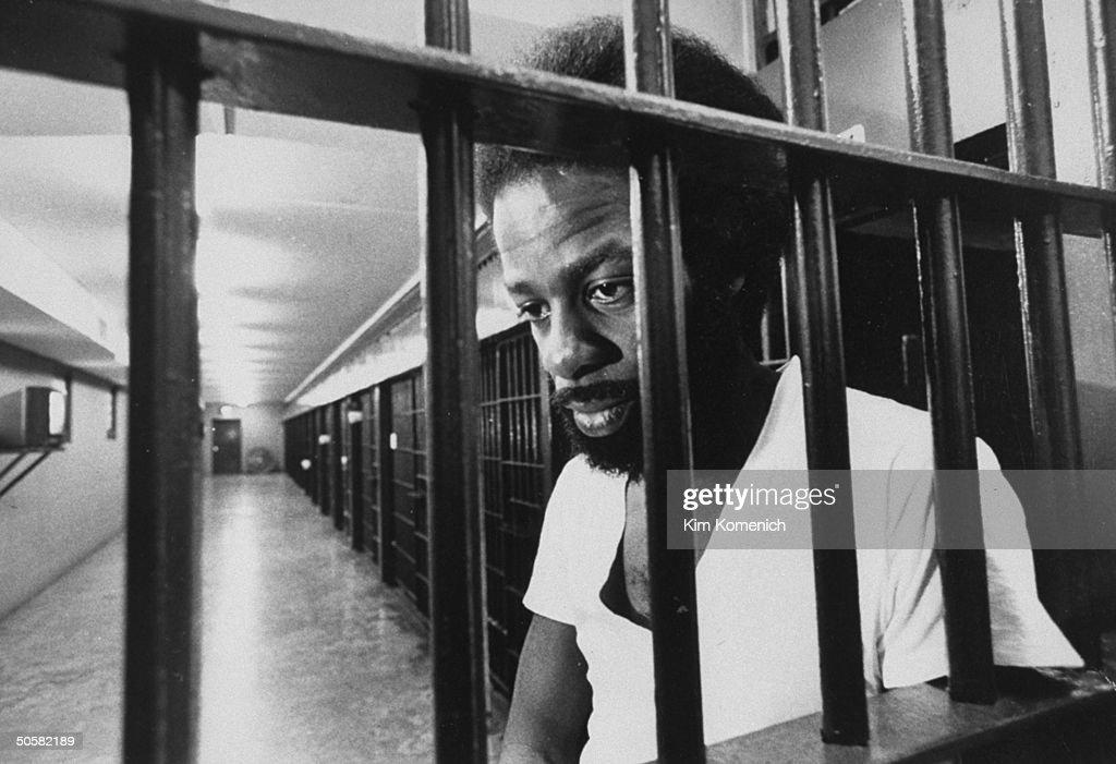 Death Row prisoner Ronald Monroe looking sad through ...