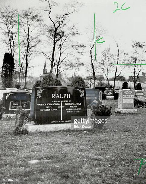 Death scene Wallace Ralph shot himself in front of his late wife Lorraine's tombstone His portion of the stone already bore his name and was...