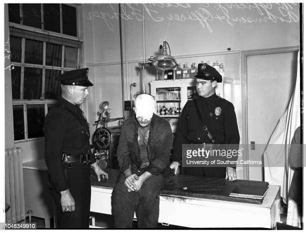 Death stabbing suspectat Georgia Street Hospital 13 October 1951 Officer JC BlackfordOfficer RF DwyerCarlos Robinson