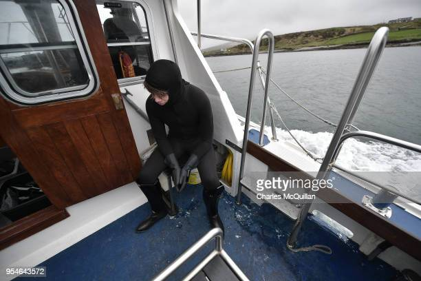 Death Trooper from the 501st Ireland Legion feels the worse for wear after suffering sea sickness on May 4 2018 in Portmagee Ireland The first ever...