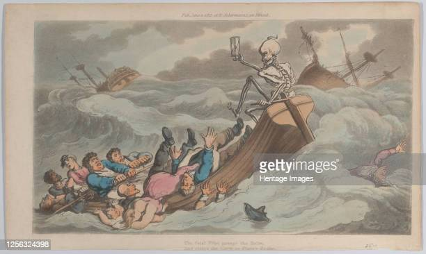 Death Turned Pilot June 1 1815 Artist Thomas Rowlandson