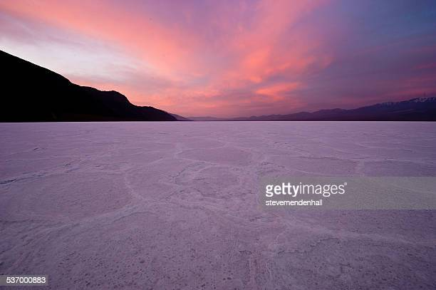 death valley at sunset, california, america, usa - salt flat stock pictures, royalty-free photos & images
